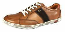 POD Kyle Tan Brown Lace Up Casual Leather Mens Trainers Shoes