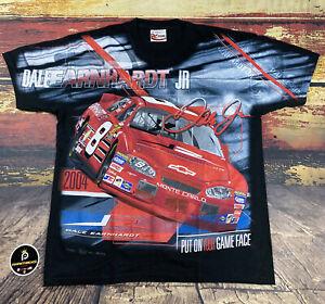 Vtg Dale Earnhardt Jr Racing Car T-Shirt All Over Print NASCAR Budweiser Men M