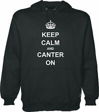 keep calm and Canter On Sudadera Con Capucha Adulto & infantil Tamaños 12