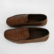 Men's Tod's Loafers, Brown Leather, Size 8