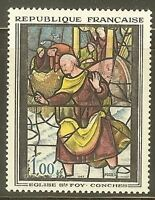 "FRANCE STAMP TIMBRE YVERT N° 1377 "" VITRAIL SYE FOY DE CONCHES 1F "" NEUF xx TTB"