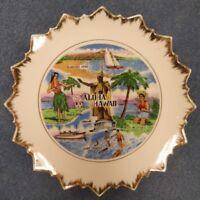 Old Vintage 1950s HawaiianAloha Hawaii Decorative Tiki Bar Plate byAnco Japan