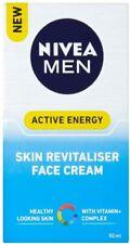 2 x Nivea Men Active Energy Skin Revitaliser Face Cream 50ml each