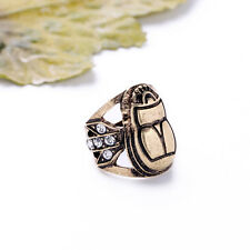 R1166 Brand New Designs Features Brass Scarab Crystal Tridents PHARAOH RINGS