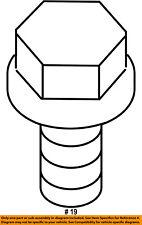 Jeep Chrysler Oem Cherokee Engine Motor Transmission-Heat Shield Bolt 6102403Aa