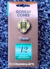 Gonesh Incense Cones #12 Green Mountains 25 High Charcoal Cones NEW
