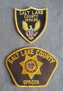 USA - 2 x Different Salt Lake County Officer Patches - Utah