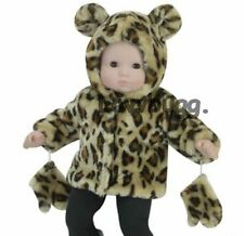 """Leopard Fur Jacket Coat for 15"""" Bitty Baby Doll Clothes Widest Selection Found"""