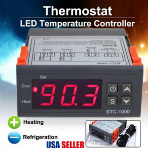 24V LED Digital Temperature Controller Thermostat Incubator with Heater & Cooler