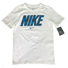 New Classic Nike Boys Sz Xl Athletic Youth T-Shirt 921228-100 White 100% Cotton