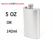 5oz Hip Flask Stainless Steel Silver Pocket Bottle Liquor Whiskey Vodka Holder