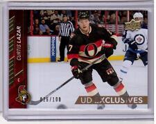 CURTIS LAZAR 15/16 Upper Deck 2 UD Exclusives Gold #026/100 #390 SP Hockey Card