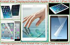 2x Kristall klar Display Schutz Folie f. Apple iPad Air 5 Screen Protector Clear