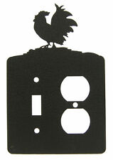 Rooster Chicken Single Switch Single Outlet Cover Plate