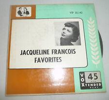 JACQUELINE FRANCOIS FAVORITES RECORD 45 RPM SI TU PARTAIS OCTOBRE JE T'AIME 1953