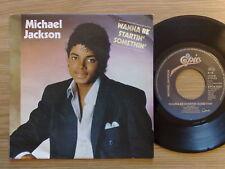 "MICHAEL JACKSON - WANNA BE STARTIN' SOMETHIN' - 45 GIRI 7"" HOLLAND PRESS"