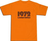 1972 Limited Edition Cool T-SHIRT S-XXL # Orange