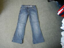 """Next Flare Jeans Size 14 Leg 29"""" Faded Dark Blue Ladies Jeans"""