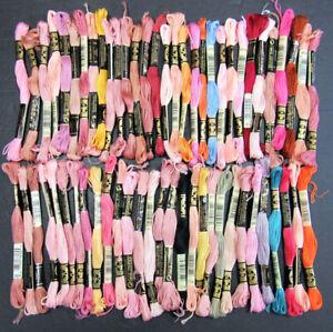 60x Needlepoint/Embroidery THREAD DMC Floss 6 ply cotton-mixed-PH85