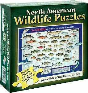 Gamefish Jigsaw Puzzle 18x24 North American Wildlife Puzzles 550 pc fishing fish