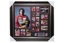 Personally Signed Ayrton Senna Photo with Frame
