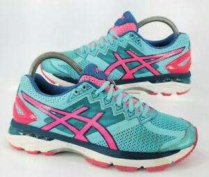 Asics GT-2000 4 Running Athletic Shoe Womens Size 7.5 T656N Blue Pink