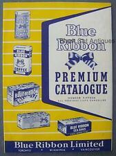Original Vintage Blue Ribbon Tea Company Premium Rewards Catalog Number 15