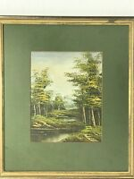 "Original Oil Painting Landscape Trees Signed Coronaro  7.5""x 10 Framed  15x17"