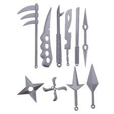 10Pcs/set Metal  Sword Knife Kunai Kids Christmas Gift Ninja Cosplay Toy