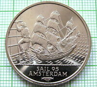 HOLLAND NETHERLANDS 1995 AMSTERDAM SAIL 2 ECU COIN, SAIL SHIP *, UNC