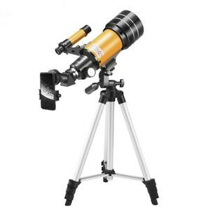 150X Astronomical Telescope F30070 Moon-watching Telescope with Phone Clip 70mm