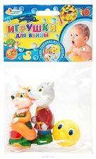 Set of 3 toys for bath - Kolobok    - new