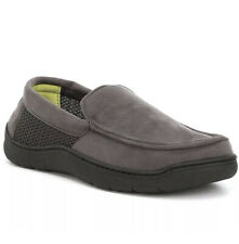 Roundtree & Yorke mens size 11-12 L Memory Foam Moccasin Slippers Pavement