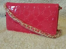 100% AUTHENTIC NWT BEBE LOGO WALLET/CLUTCH WITH CHAIN STRAP