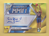 2018/19 Panini Spectra MARK JACKSON Gold Prizm Auto Making It Rain 3/10 Knicks