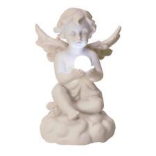 Dekofigur Engel mit LED-Kugel Deko Figur Engelchen niedlich Rosenkranz