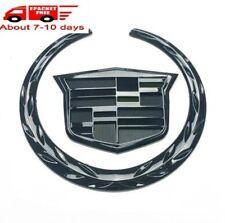 "6"" Black Chrome Front Grille Emblem Hood Badge Logo Fit For Cadillac SRX XLR ATX"