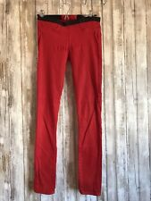 HELMUT LANG Womens Red Coated Denim Skinny Jean Leggings Pants 27 USED READ*