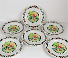 """6 Mary Engelbreit Home Sweet Home 8"""" Salad or Lunch Plates Sakura At Home Lot"""