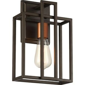 Nuvo Lighting Lake 1 Light Wall Sconce in Bronze with Copper Accents - 60-5851