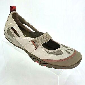 Merrell Mimosa MJ Aluminum Gray Mary Jane Sport Cycling Shoes Women's sz 10