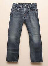 NEW Ralph Lauren RRL DOUBLE RL Selvedge Low Straight Blue Denim Jeans 32 x 34