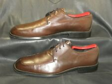 Wilke Rodriguez men's brown smooth leather split apron toe oxford shoes size 9.5