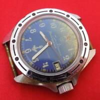 Vostok Komandirskie vintage wrist watch Submerine on dial Russian mechanical men