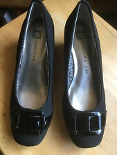Pre-owned Anne Klein ifLEX RIKY Loafer with Black Patent Leather Buckles 6.5M