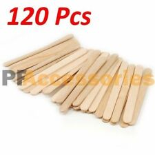 "120 Pcs Flat Natural Wood Craft Sticks Popsicle Sticks Bulk 4-1/2"" x 3/8"" LOT"