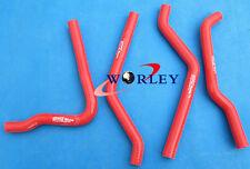 Silicone radiator hose for Kawasaki KX125 KX 125 1990 1991 1992 1993 90 91 RED