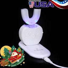 Dental Automatic USB Ultrasonic Hands 360° Brush Whitening Toothbrush White Sale