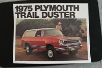 1975 PLYMOUTH TRAIL DUSTER ORIGINAL SALES BROCHURE
