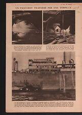 WWI Liner Kwang-Si Paquebot Torpille Torpedo Submarine Germany 1918 ILLUSTRATION